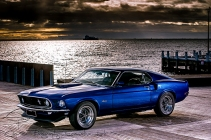 1969 Mustang on the waterfront