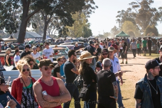 Big crowds filled the grounds at Newstead for Chopped 2013