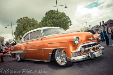 This 53 Chevy had colour and wheels to suit!