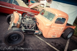 Fashionable ratrod on show