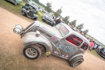 Bare metal gasser clocked up plenty of mileage on Chopped track!