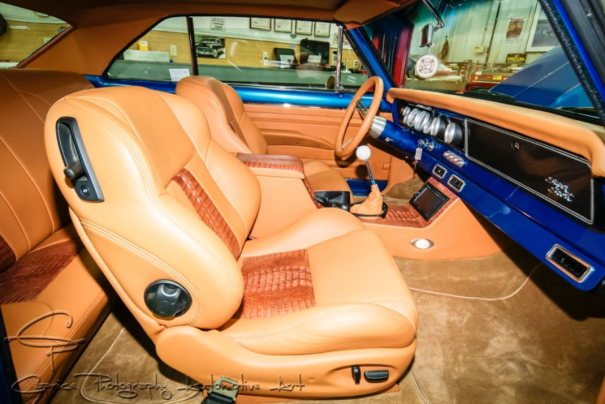 Tan leather interior