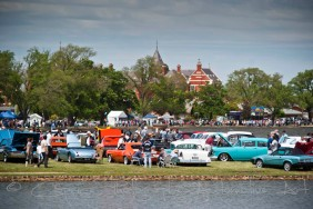 Lake Wendoree, Ballarat is the perfect location for a car show!