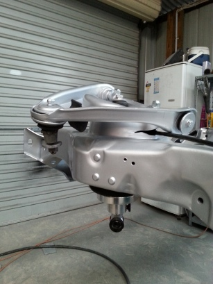 Suspensions added to the chassis