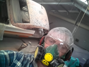 Stripping paint ain't fun!