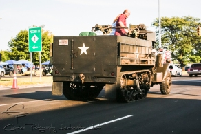 Anything goes at Woodward as can be seen by this halftrack cruising the boulevard. Strangely, no one argued with him if was to be considered Detroit muscle or not!