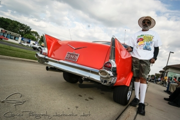 Gilbert Hinton has owned this 1957 Chevy Belair running a 454 ci motor since 1972 and built it to its current form in 1982.