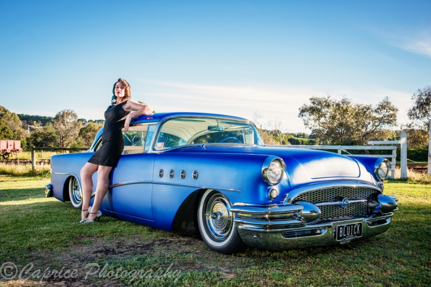 model poses, model photography, 1956 custom buicks, classic buicks