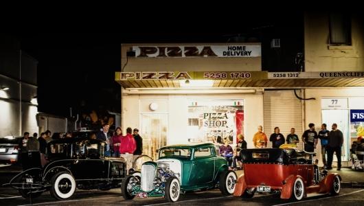 hangouts, hot rods, hot rod scenes, pizza places