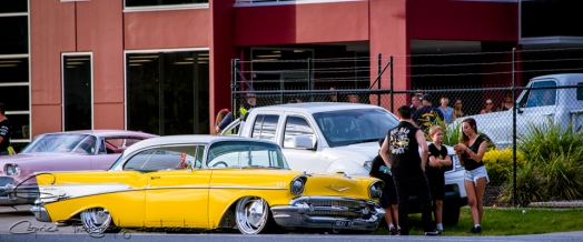 yellow 1957 chevy, old school cars, custom chevys