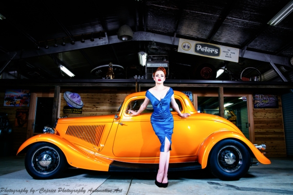 The style and grace of Miss Madison Louise is perfect for the classic finish of Vaughany's Beautifully presented Aussie hot rod!