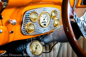 classic instrument gauges add to the vintage touch