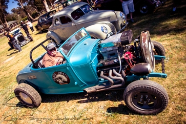 Salt flats identity, Al Fontain transplanted the 800hp 520BB from his belly tank into this 1928 Roadster for mud racing entertainment.