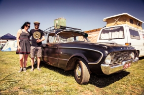 Dani Habict and Max Mckinnon travelled from Newland to take in Chopped with their one lady owned, nicely patinaed 1960 Xk falcon which they have had for 5 years.