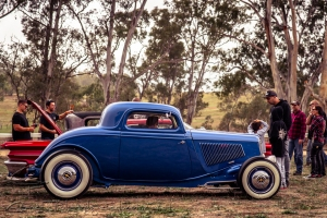 Clint Chegwidden cruised up from Melbourne in his stunning 33 3 window coupe running a 302 Windsor, C4 auto and 8 ¾ diff. Clint and his dad completed the project in 4 ½ years.