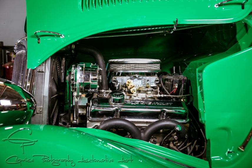 Sporting a tricked up 350 Chev crate motor