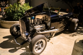 Gary's Roadster runs a 300ci 1929 French block V8, 39 Ford trans with Lyncoln Zephyr gears and a 1940 Halibrand quick change rear end. Purchased in 1976, it was a four year build and has been driven for the past 15 years.