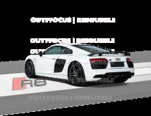 AudiR8white rear