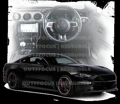 Bullitt Mustang black front dash