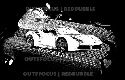 Ferrari 488 bandw