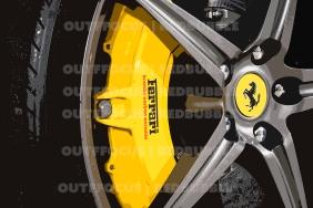 Ferrari 488 black wheel