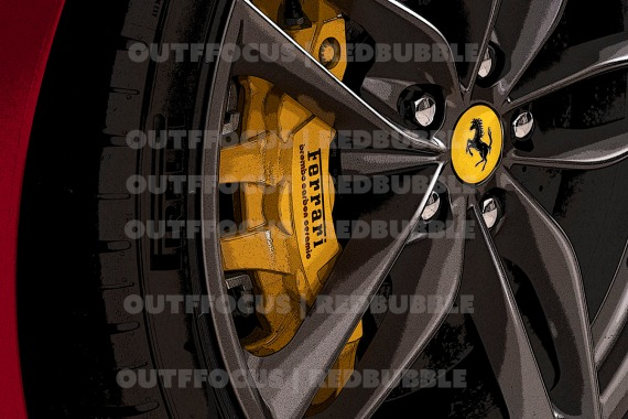 Ferrari 488 brake