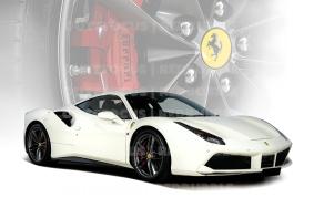 Ferrari 488 white wheel comp
