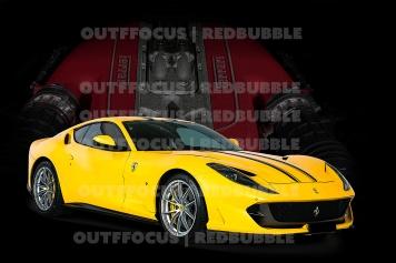 Ferrari812Supersport yellow engine