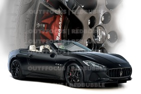 Maserati red wheel comp front 3 quarter black