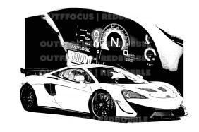 McLaren race dash drawn