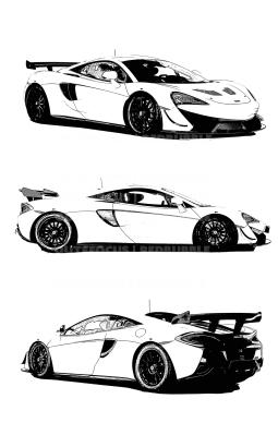 McLaren race X3 drawn