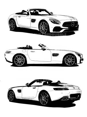 Mercedes Benz AMG X3 drawn